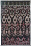Tribal Geometric Charcoal Moroccan Oriental Area Rug Oversize Hand-knotted 12x15