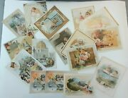Lot Of 16 Antique Victorian Advertising Trade Cards Mclaughlins Coffee Woolson