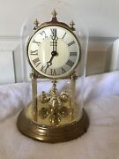 Linden Westminster Made In Germany Glass Dome Clock Rare Works