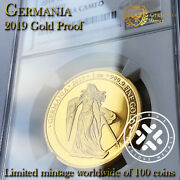 2019 Germania Ngc Proof 70 Ultra Cameo 1 Oz Pure 999.9 Gold Coin