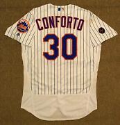 Michael Conforto Mlb Holo Resolution Pm Game Used Jersey 5 Home Run 2018 Ny Mets