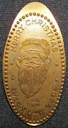 Merry Christmas And Happy New Year Santa Clause Elongated Coin