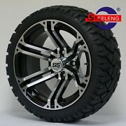 Golf Cart 14 Terminator Wheels/rims And 20 Stinger All Terrain Tires Dot Rated