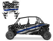 2019 Polaris Rzr Xp4 Turbo S Graphics Wrap Kit High Coverage Thin Blue Line Flag