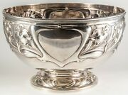 Huge English Sterling Silver Ornate Center Bowl Charles C Pilling 38.45 To