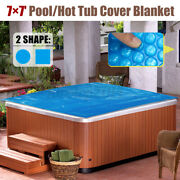 7ft Spa Swimming Pool Hot Tub Thermal Bubble Solar Blanket Cover Heat Retention