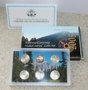 2005 P D S Us Mint Westward Journey Nickel Series Coin 6 Coin Set W/box And Coa