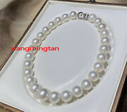 Aaaaa Luster 1713-14mm Round Natural Real South Sea White Pearl Necklace 14k