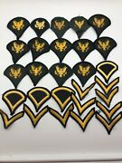 Us Army Patches Patch Lot Military Enlisted Rank Chevrons Lot Of 28
