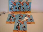 Vintage Bullwinkle Greeting Card Lot Of 6 Cards Please Write Card 1988 Hall