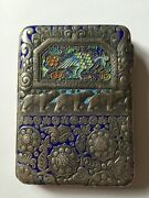 Antique Russian Silver Cigarette Case With Polar Bears - Authentic