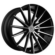 20 Lexani Wheels Pegasus Black Machined Rims And Tires With Tpms