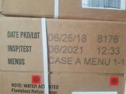 Meals Ready To Eat Case A And B Menu 1-12/13-24 Mre