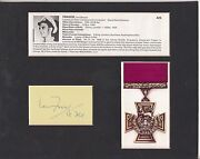 Victoria And George Cross Memorial Montage Signed By Ian Fraser Vc Deceased