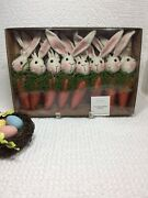 New Easter Gardeners Eden 6' Carrot And Bunny Rabbits Garland Farmhouse Style