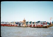 1950s Red Border Kodachrome Photo Slide Royal Barge Procession Thailand