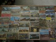 52 Vintage Postcards 1950s W/ Stamps Writing See My Other Postcard Auctions