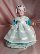 Rare And Unique Molded-on Bonnet Gebruder Heubach 7959 Antique Doll 8 Adorable