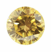 0.32 Carat Fancy Intense Yellow Diamond Certified Natural Color Loose Round