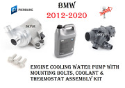 Engine Water Pump With Thermostat And Coolant Set For 12-20 Bmw 335 435 640 X5 X6