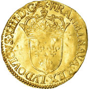 [486354] Coin France Louis Xiii Ecu Dand039or 1632 Rouen Ef Gold Km51