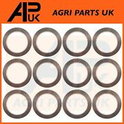 12 Pto Clutch Plate Friction Disc Set For Ford 3550 4000 4110 4410 4500 Tractor