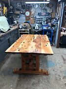 Rustic Dining Room Table With One Bench