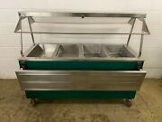 Heritage 2 Pan Hot 2 Pan Cold Buffet W/ Sneeze Guards And Plate Rails Tested