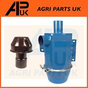 Oil Bath Air Pre Cleaner + Cap Hat Filter For Ford 531 4600 5600 Tractor