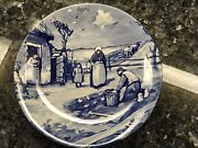 Delfts Holland Blue Plate Month Of April Approx 10andrdquo Vintage Boxed