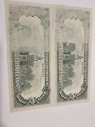 Error 1990 2 Consecutive 100 Notes Miss 1/2and 1/3 Ink On The Back!unc Top Rare!
