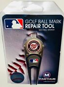 Washington Nationals Mlb Divot Tool Belt Clip Style With Magnetic Attachment.