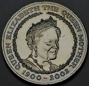 Great Britain 5 Pounds 2002 Uncqueen Mothers Portraitfree Shipping