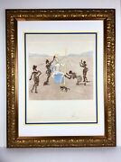 1980 Salvador Dali Golden Helmet... Hand Signed 150/150 Japon Framed 10000