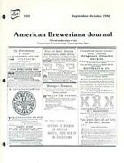 Aba American Breweriana Journal Magazine Sept Oct 86 Beer Naba Bcca Collectables