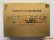 New Metal Gear Solid Premium Package Gold Shareholder Sony Playstation Ps1 Japan