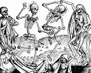 Dancing Skeletons Day Of The Dead 8x10 Real Canvas Art Print