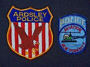 Police Patches New York Aviation Ardsley Full Size Shoulder Nypd Nyc Helecopter
