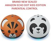 Echo Dot 4th Gen Kids Edition With Parental Control Panda Or Tiger New
