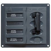 Bep Ac Circuit Breaker Panel Without Meters, 2dp Ac230v Stainless Steel 900-acch