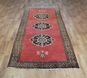 Old Wool Hand Made Oriental Floral Runner Area Rug Carpet 290 X 108 Cm