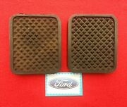 Ford Thames Truck Brake And Clutch Pedal Pad Rubbers New Pair