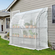 Walk In Greenhouse Lean To Wall Tunnel Waterproof Garden Shed Plants Cold Frame