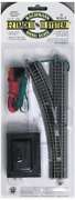 Bachmann Trains - Snap-fit E-z Track Remote Turnout - Left 1/card - Nickel Rail
