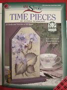 Time Clock Floral Plaid One Stroke Donna Dewberry 6 Paint Brushes Lesson Box