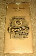 Vintage 1905 Travelerand039s Life Insurance Co. Policycontractkansas Cityfold-out