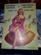 1947 Paterson Nj Panthers Vs. Long Island Indians Football Program Vg Cond