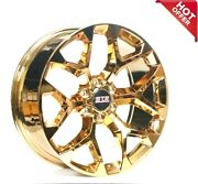 22 Str Wheels 701 Candy Gold Snowflake Replica Rims Fit 4runner S4