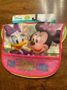 Disney Minnie Mouse Water Resistant Toddler Bibs 2 Pack Girl Power Fab-bow-lous