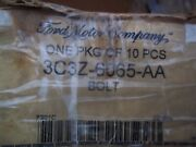 Box Of 9 Genuine Ford Head Bolts Part Number 3c3z-6065-aa